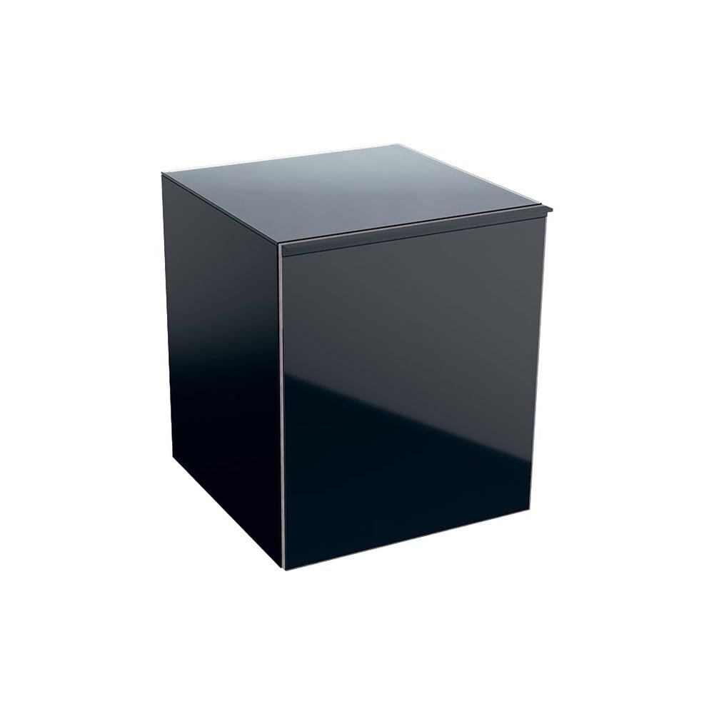 Dulap mediu suspendat negru lava Geberit Acanto 1 sertar 45 cm imagine neakaisa.ro