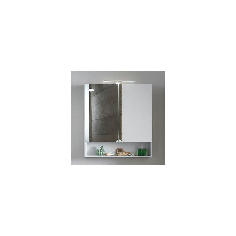 Dulap suspendat cu oglinda KolpaSan Evelin mdf alb 70x65 cm neakaisa.ro