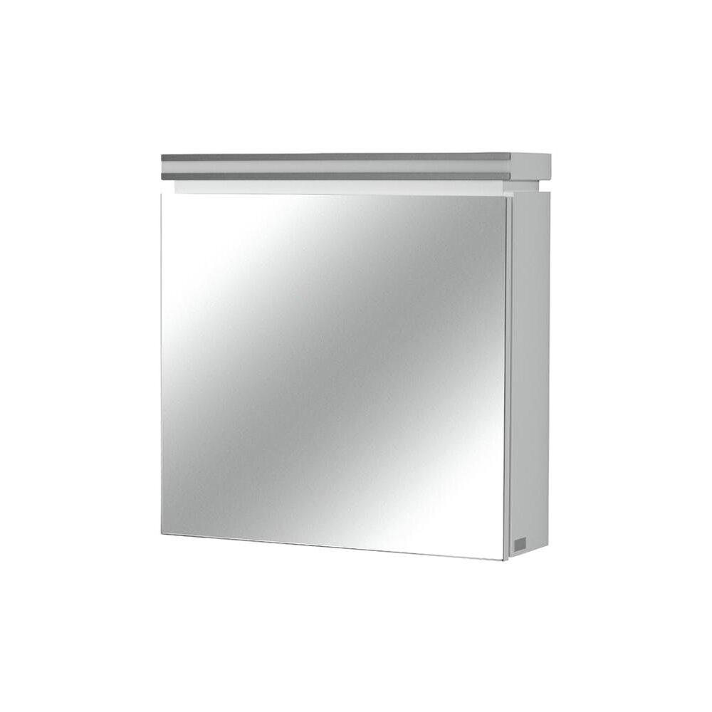 Dulap suspendat cu oglinda Cersanit Olivia mdf alb 56x56 cm imagine