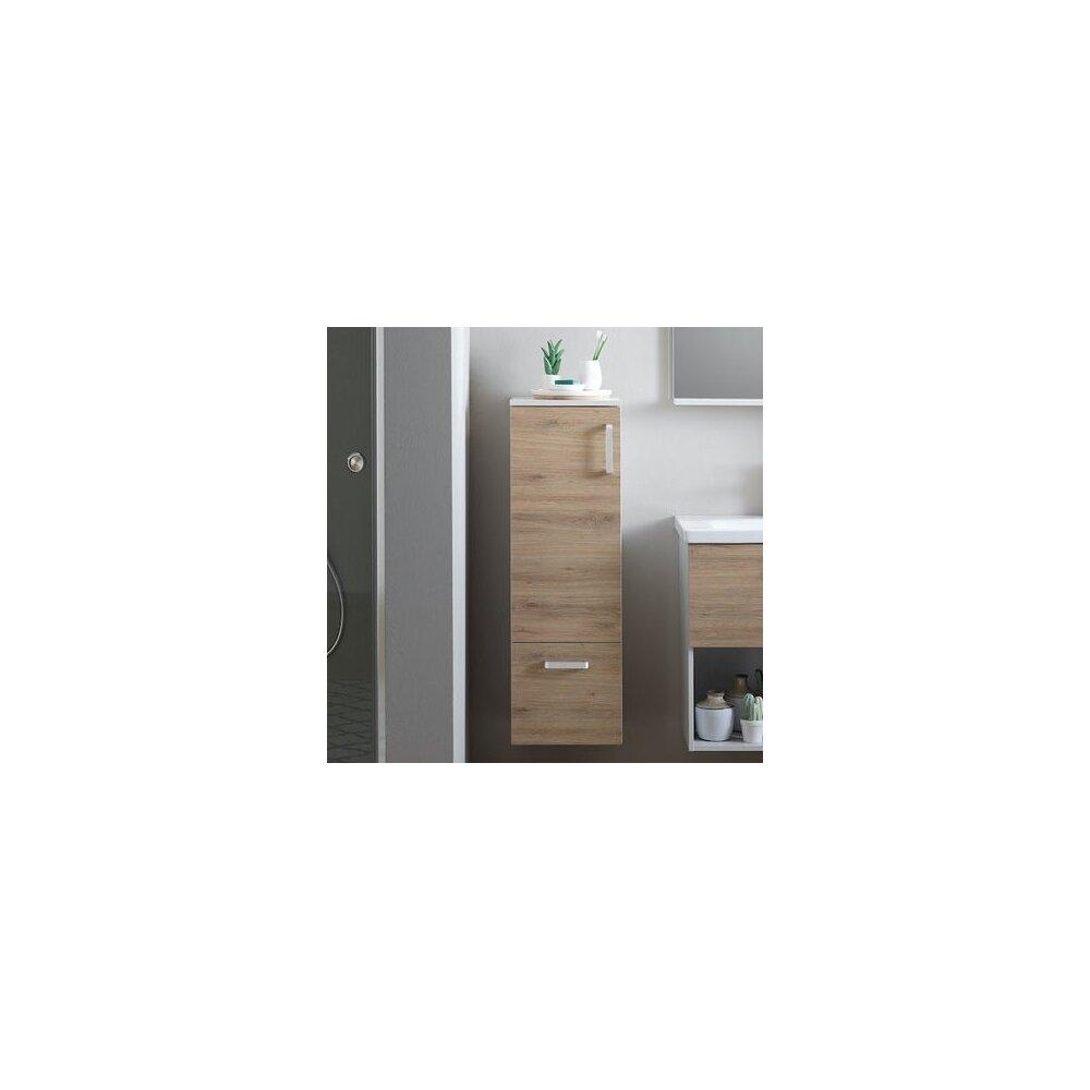 Dulap mediu suspendat KolpaSan Evelin mdf stejar 102x37 cm neakaisa.ro