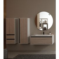 Dulap inalt suspendat cu usa si sertare KolpaSan Pandora mdf lemn 130x45 cm