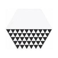 Gresie glazurata hexagonala alb-negru Kerama Marazzi Buranelli Triangles A218