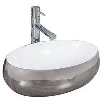 Lavoar alb/argintiu pe blat Rea Linda Silver 48,5 cm