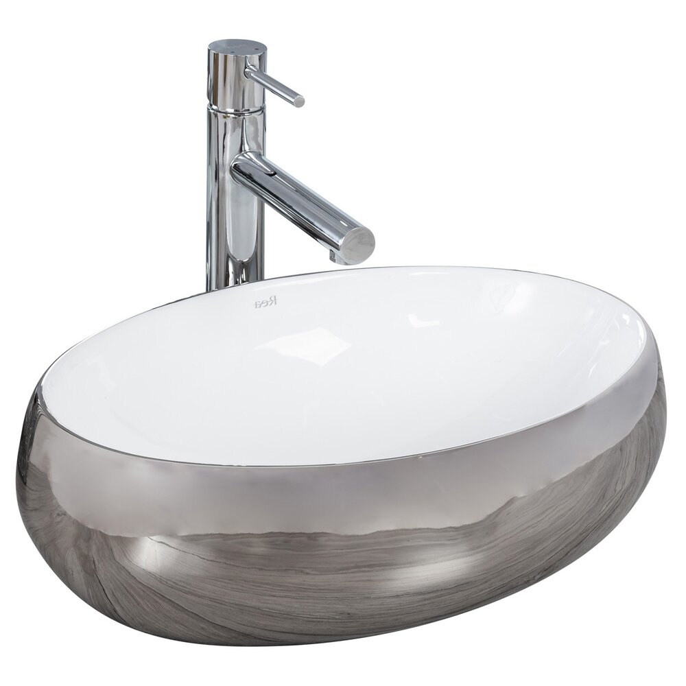 Lavoar alb/argintiu pe blat Rea Linda Silver 48,5 cm imagine neakaisa.ro