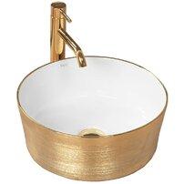Lavoar alb/auriu pe blat Rea Alisa 37 cm