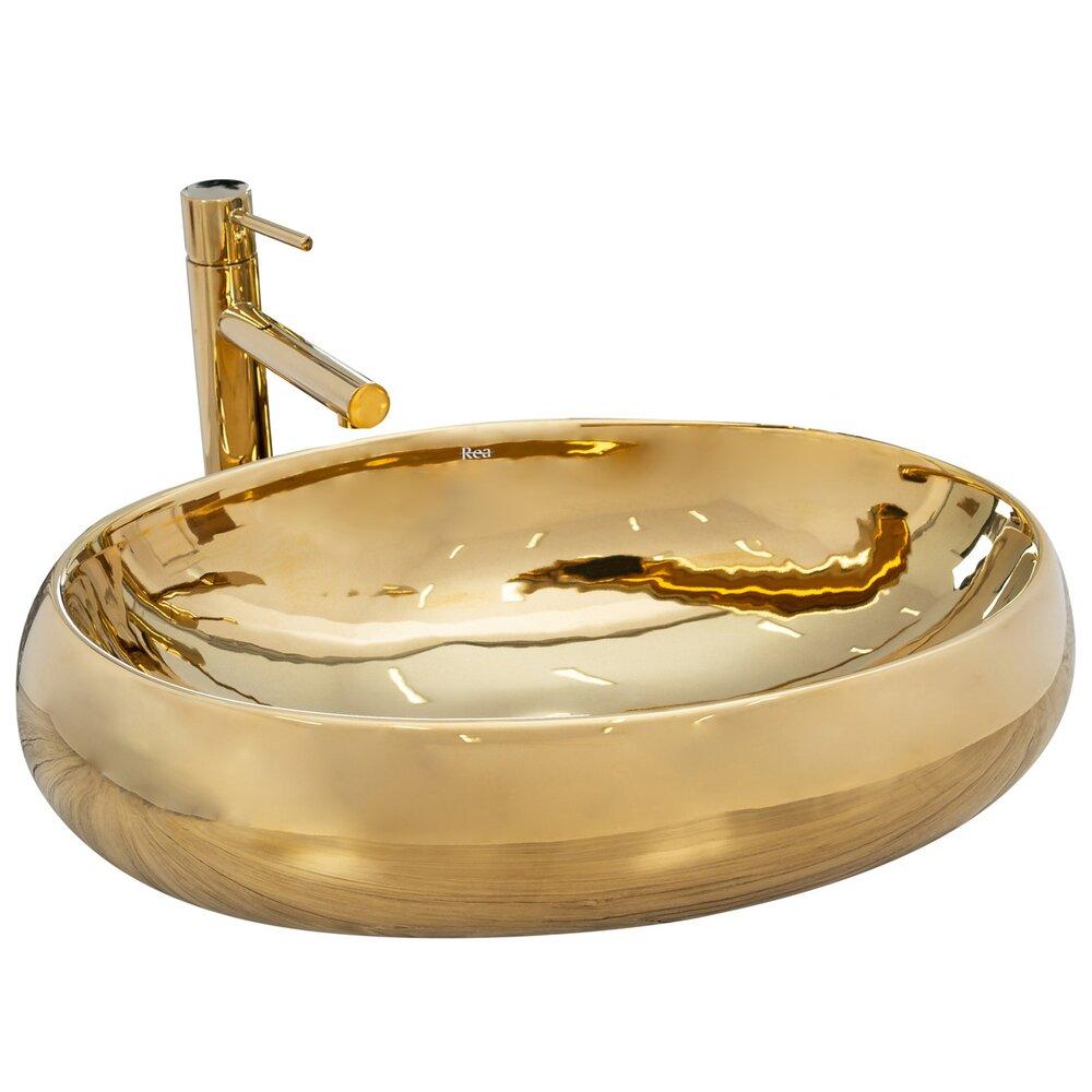 Lavoar auriu pe blat Rea Melania Gold 60 cm poza