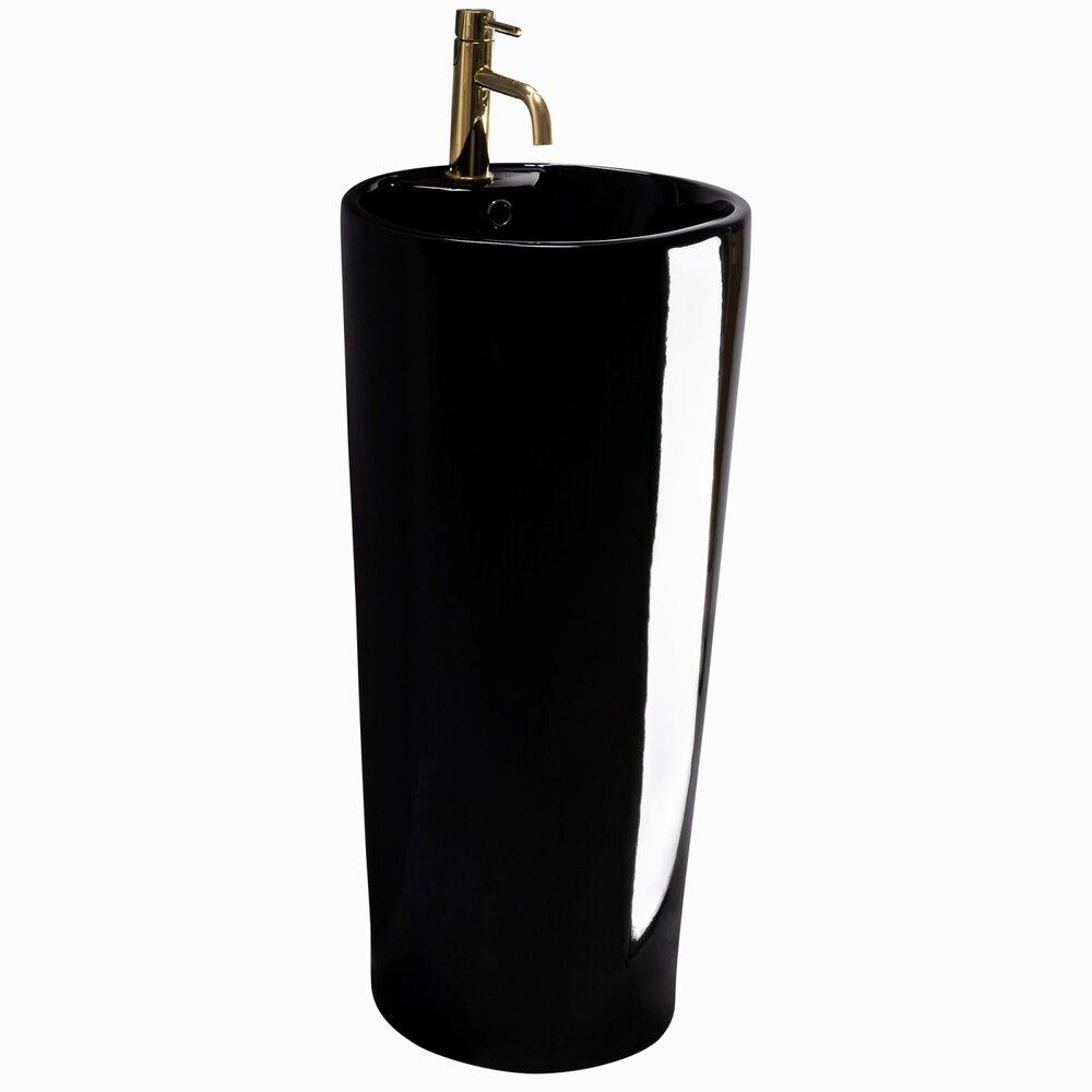 Lavoar freestanding negru Rea Blanka poza