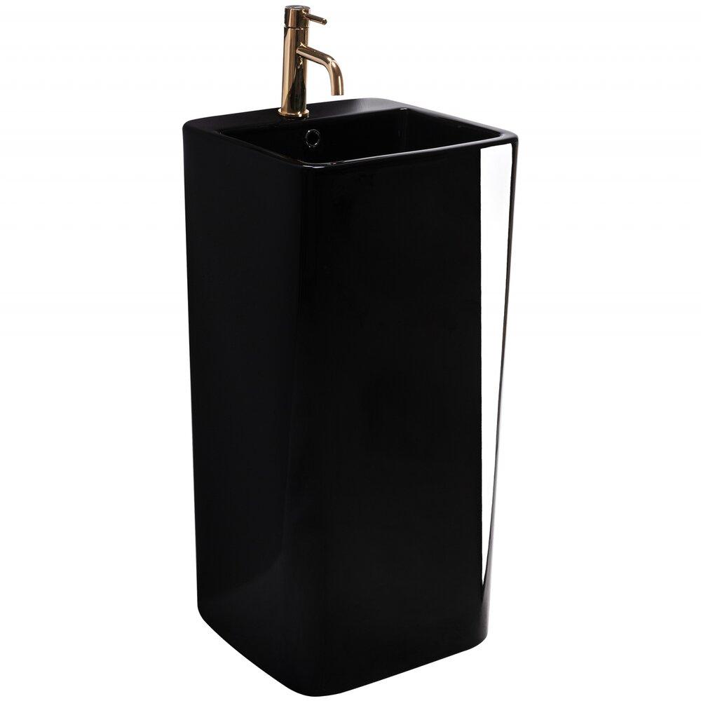 Lavoar freestanding negru Rea Mia poza