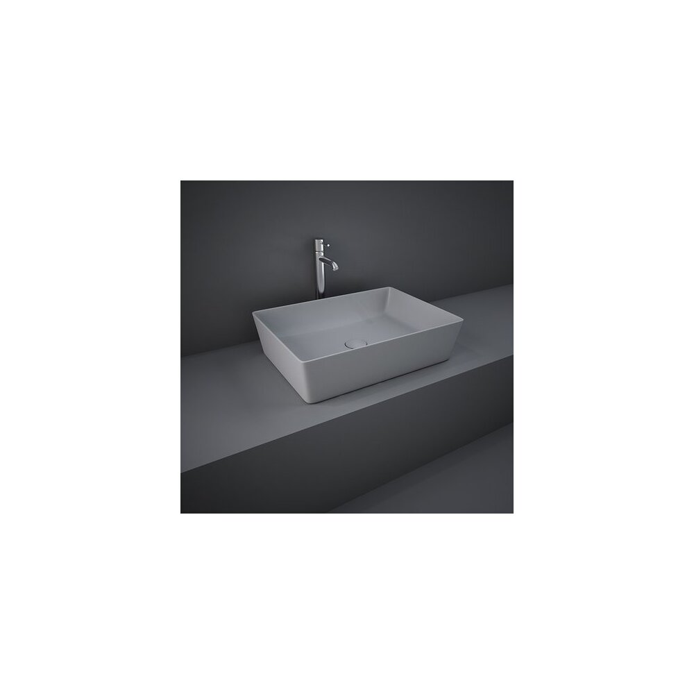 Lavoar gri mat rectangular Rak Feeling 50x36 cm imagine