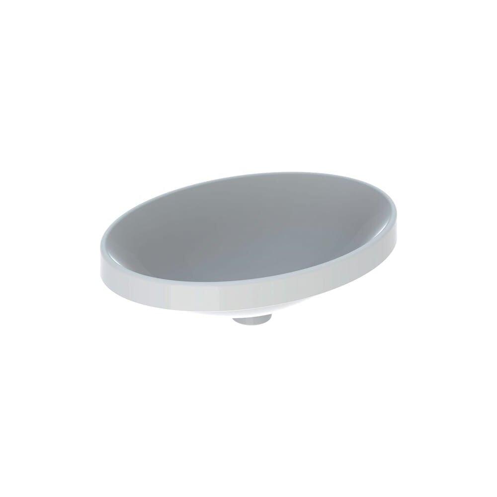 Lavoar incastrat Geberit Variform 55 cm fara orificiu preaplin oval imagine
