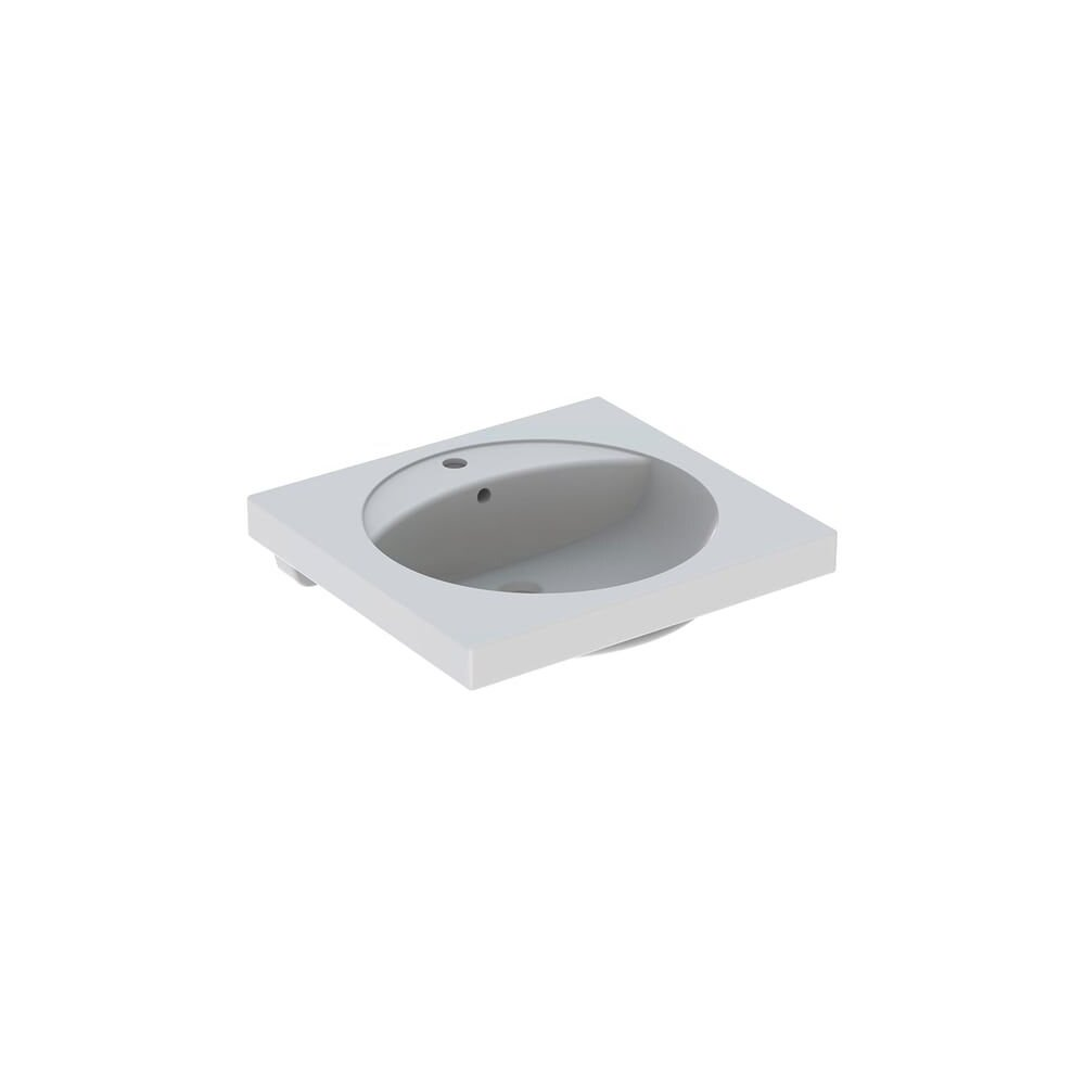 Lavoar pe blat Geberit Preciosa 60 cm cu orificiu baterie cu orificiu preaplin poza