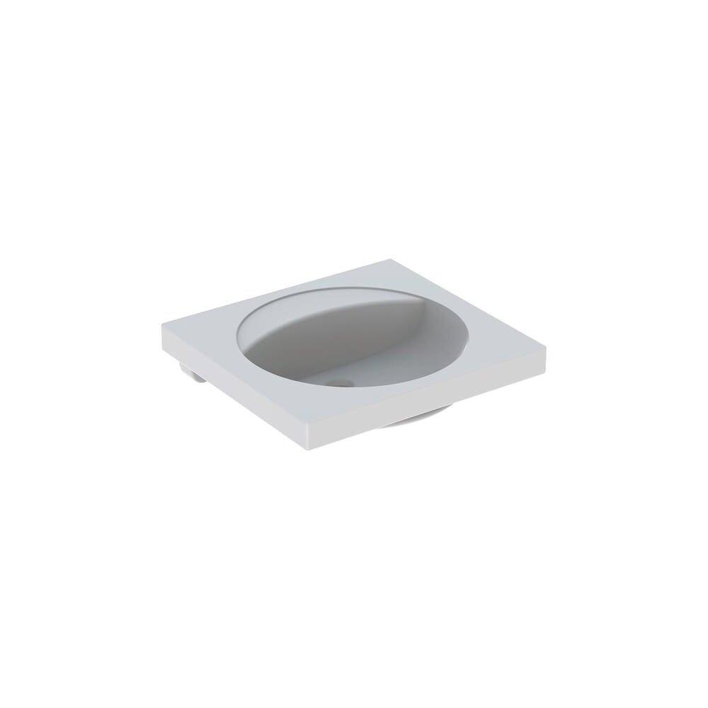 Lavoar pe blat Geberit Preciosa 60 cm fara orificiu baterie fara orificiu preaplin imagine neakaisa.ro