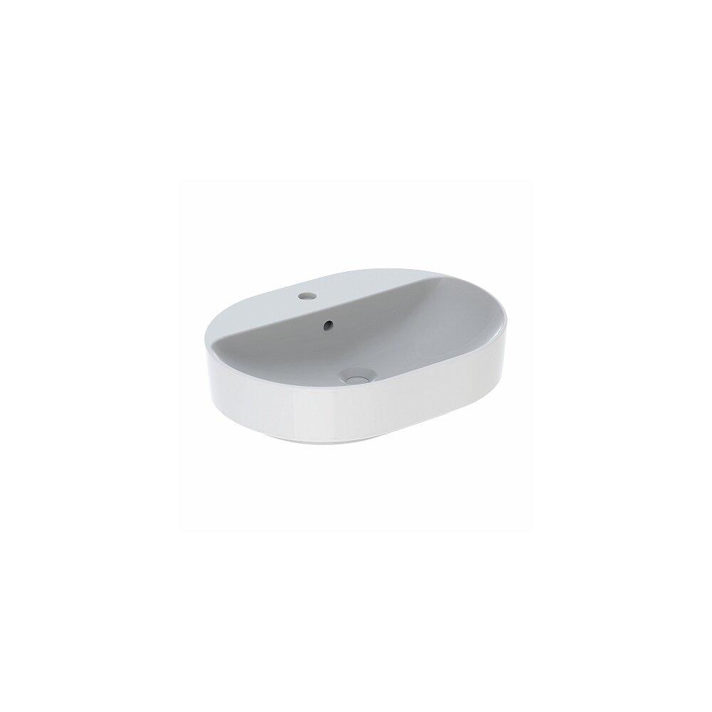 Lavoar pe blat Geberit Variform eliptic cu preaplin 60x45 cm imagine neakaisa.ro
