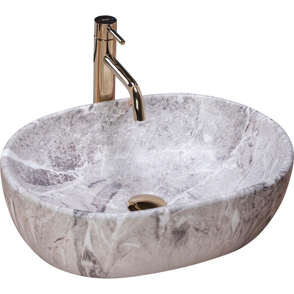 Lavoar pe blat Rea Lara Stone 49 cm imagine