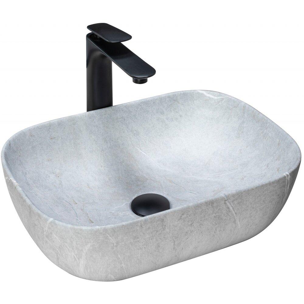 Lavoar pe blat Rea Livia Grey 47 cm imagine