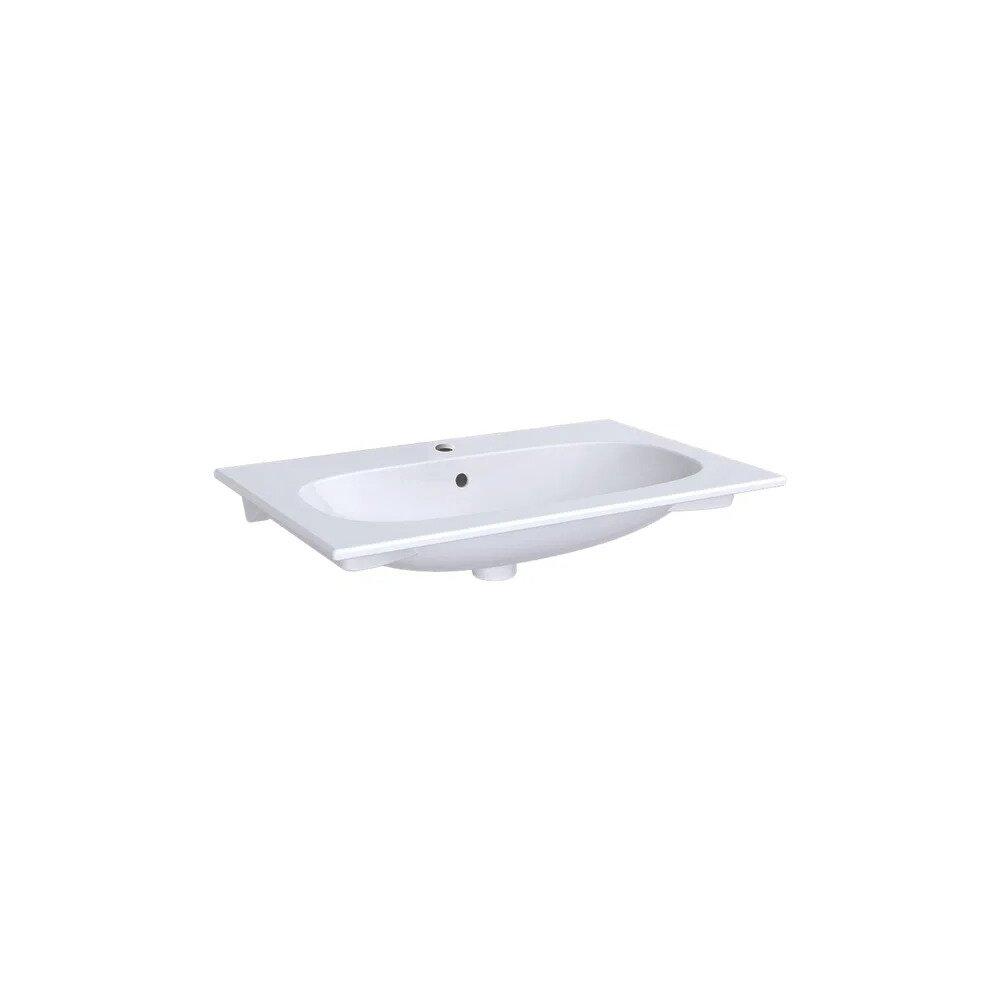 Lavoar pe mobilier Geberit Acanto 74 cm alb imagine