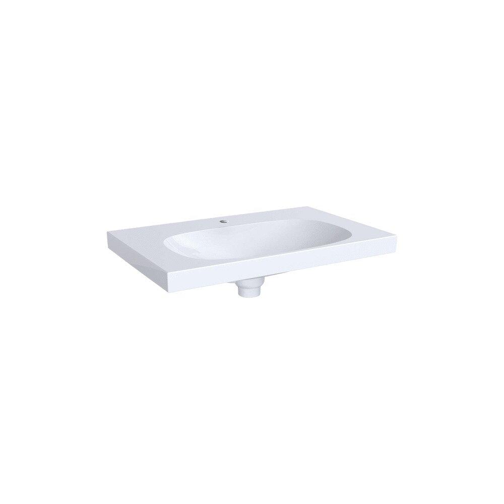 Lavoar pe mobilier Geberit Acanto 74 cm cu orificiu preaplin ascuns imagine neakaisa.ro