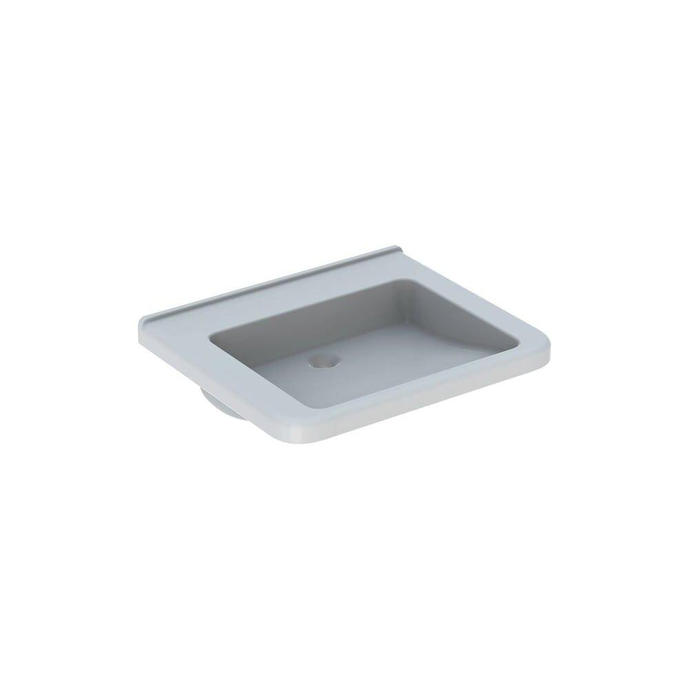 Lavoar suspendat Geberit Selnova Comfort Square 65 cm fara orificiu baterie fara orificiu preaplin poza