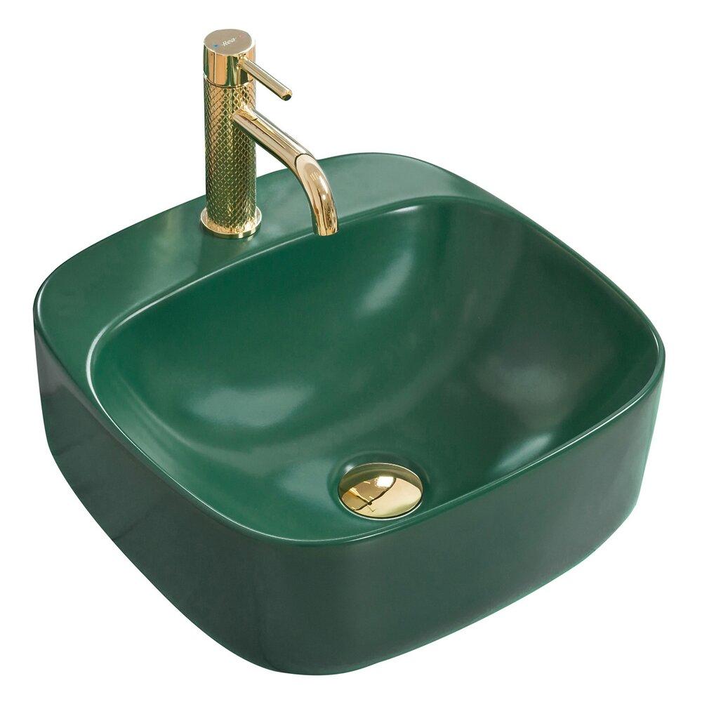 Lavoar verde mat pe blat Rea Luiza 42 cm poza