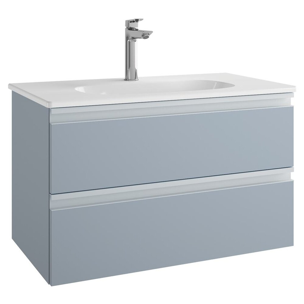 Dulap suspendat pt lavoar Ideal Standard Tesi mdf albastru 80 cm