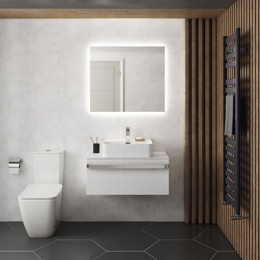Oglinda cu iluminare si dezaburire Ideal Standard Mirror&Light Ambient 70x70 cm poza