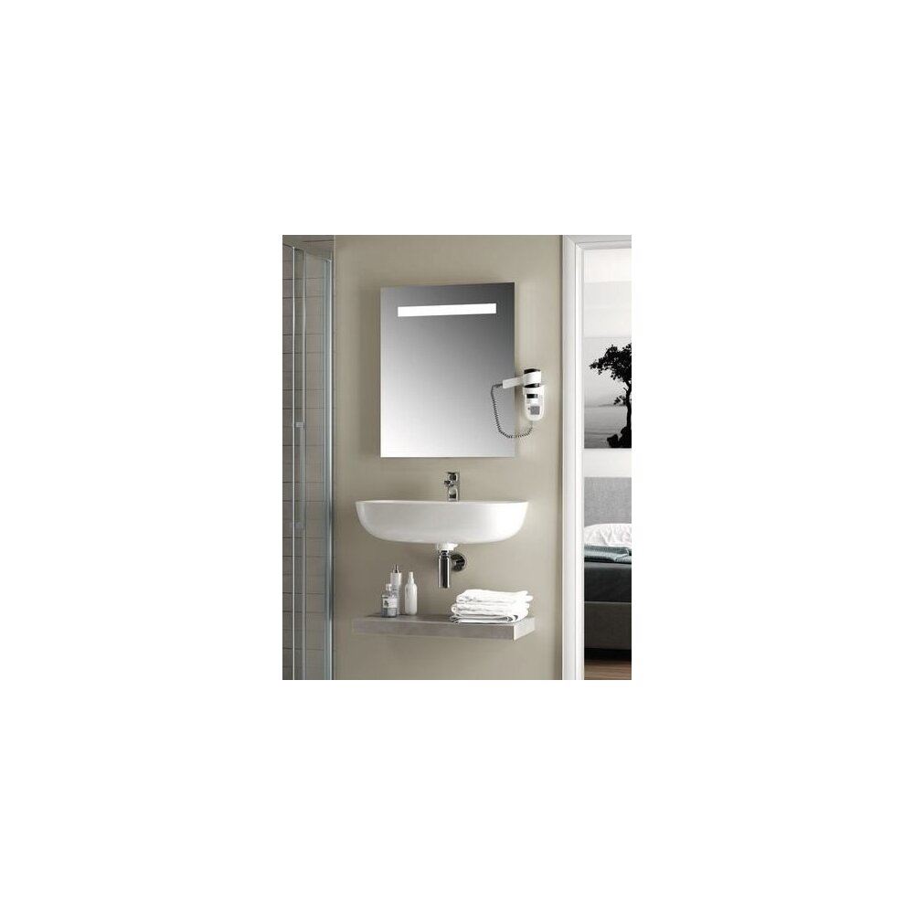 Oglinda cu iluminare si dezaburire Ideal Standard Mirror&Light 100x70 cm imagine neakaisa.ro