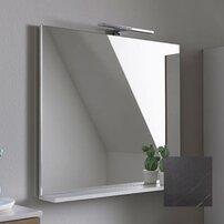 Oglinda cu etajera KolpaSan Evelin gri 65x70 cm