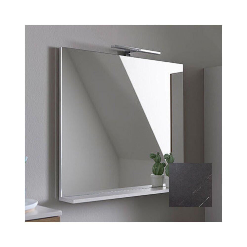 Oglinda cu etajera KolpaSan Evelin gri 65x70 cm imagine neakaisa.ro
