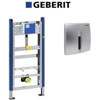 Set de instalare Geberit Prepack pentru pisoar cu senzor si clapeta crom mat