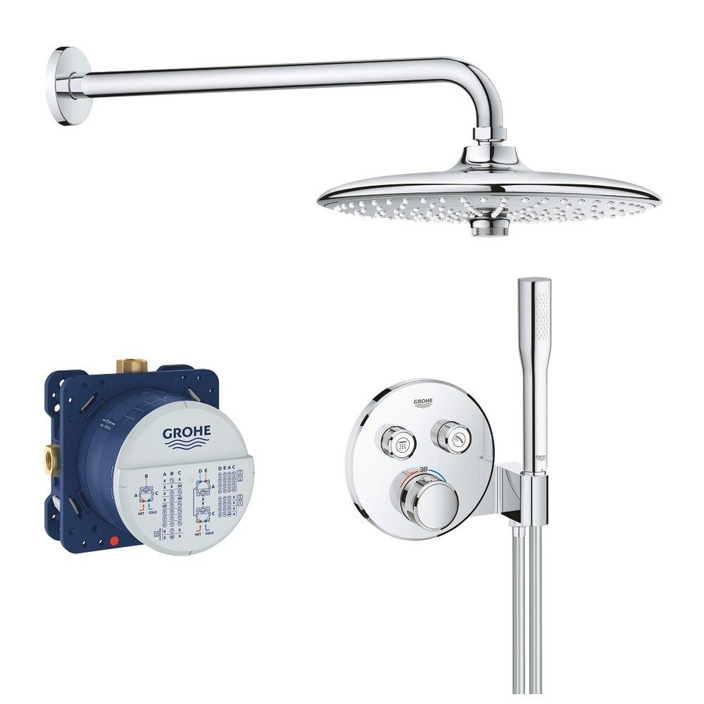 Sistem de dus cu termostat Grohe Grohtherm SmartControl palarie dus Euphoria 260 imagine