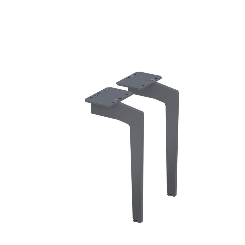 Set picioare pentru mobilier Oristo grafit mat 33 cm imagine