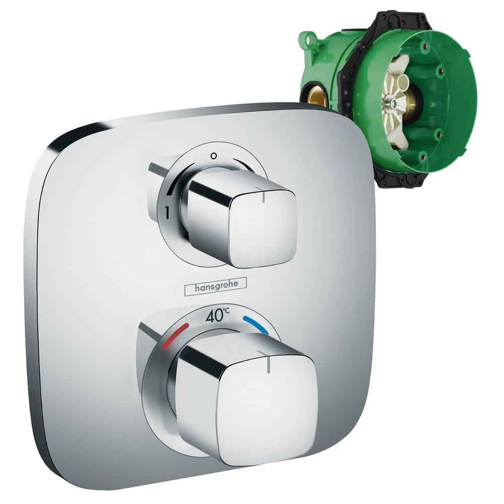 Set promo baterie dus termostatica Hansgrohe Ecostat E incastrata + iBox poza