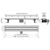 Set rigola cu capac faiantabil APZ13-DOUBLE9 FIT AND GO 85 cm