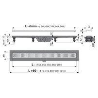 Set rigola pentru dus cu capac Alcaplast APZ10 Simple 75 cm