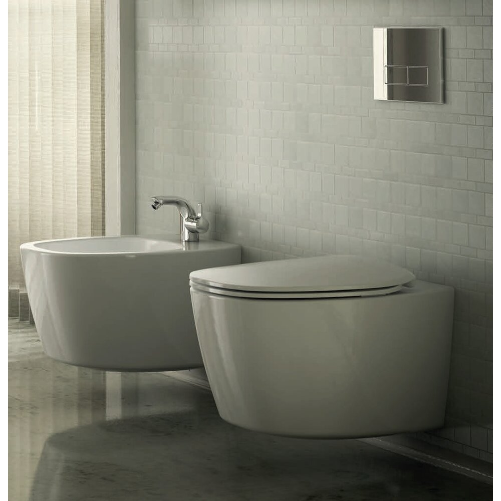 Set vas toaleta suspendat Aquablade si capac softclose Ideal Standard Dea imagine