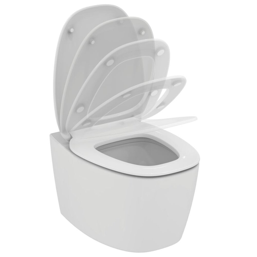 Set vas toaleta suspendat Aquablade si capac softclose Ideal Standard Dea poza