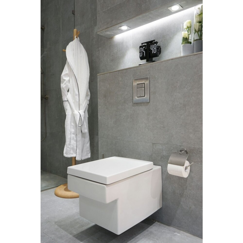 Set vas wc suspendat Grohe Cube Ceramic Triple Vortex Rimless cu PureGuard si capac softclose neakaisa.ro