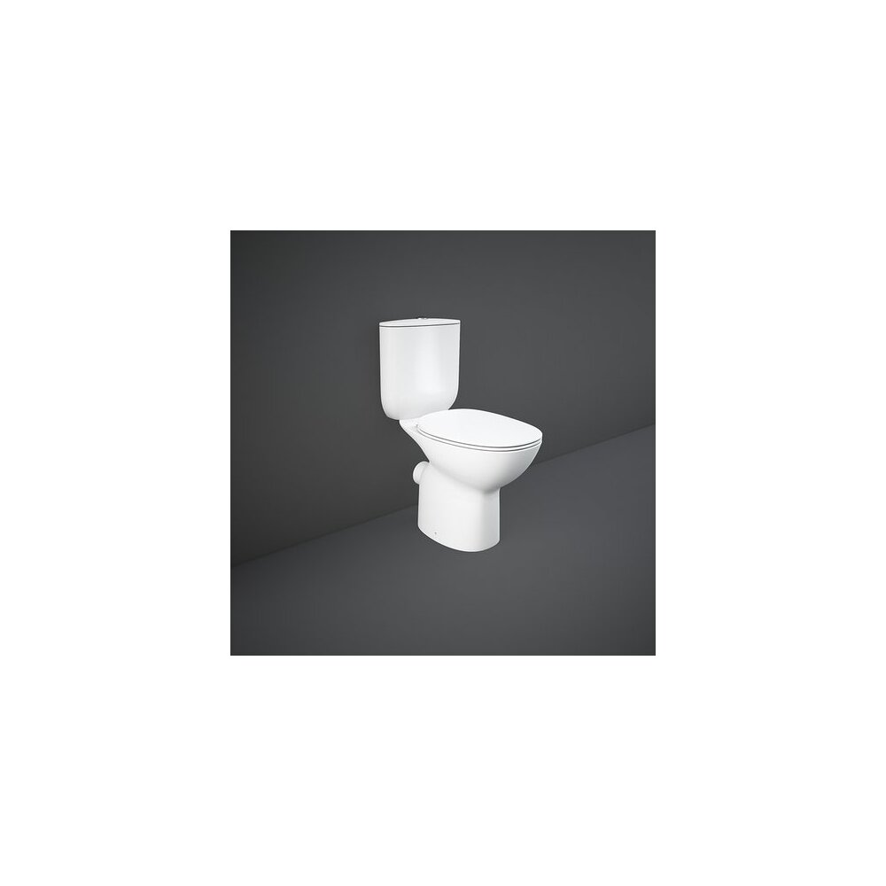 Set vas wc pe pardoseala cu rezervor si capac softclose Rimless Rak Ceramics Morning imagine