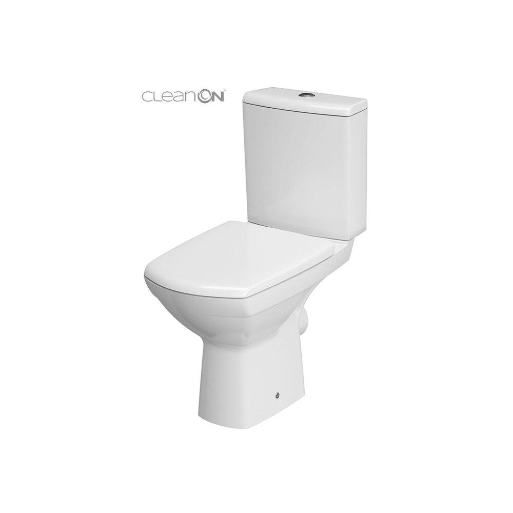 Set vas wc pe pardoseala Cersanit Carina New Clean On cu rezervor si capac poza