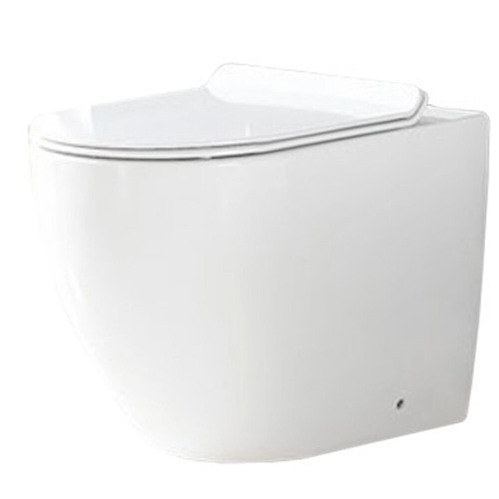 Set vas wc pe pardoseala Rea Carlo rimless + capac slim softclose