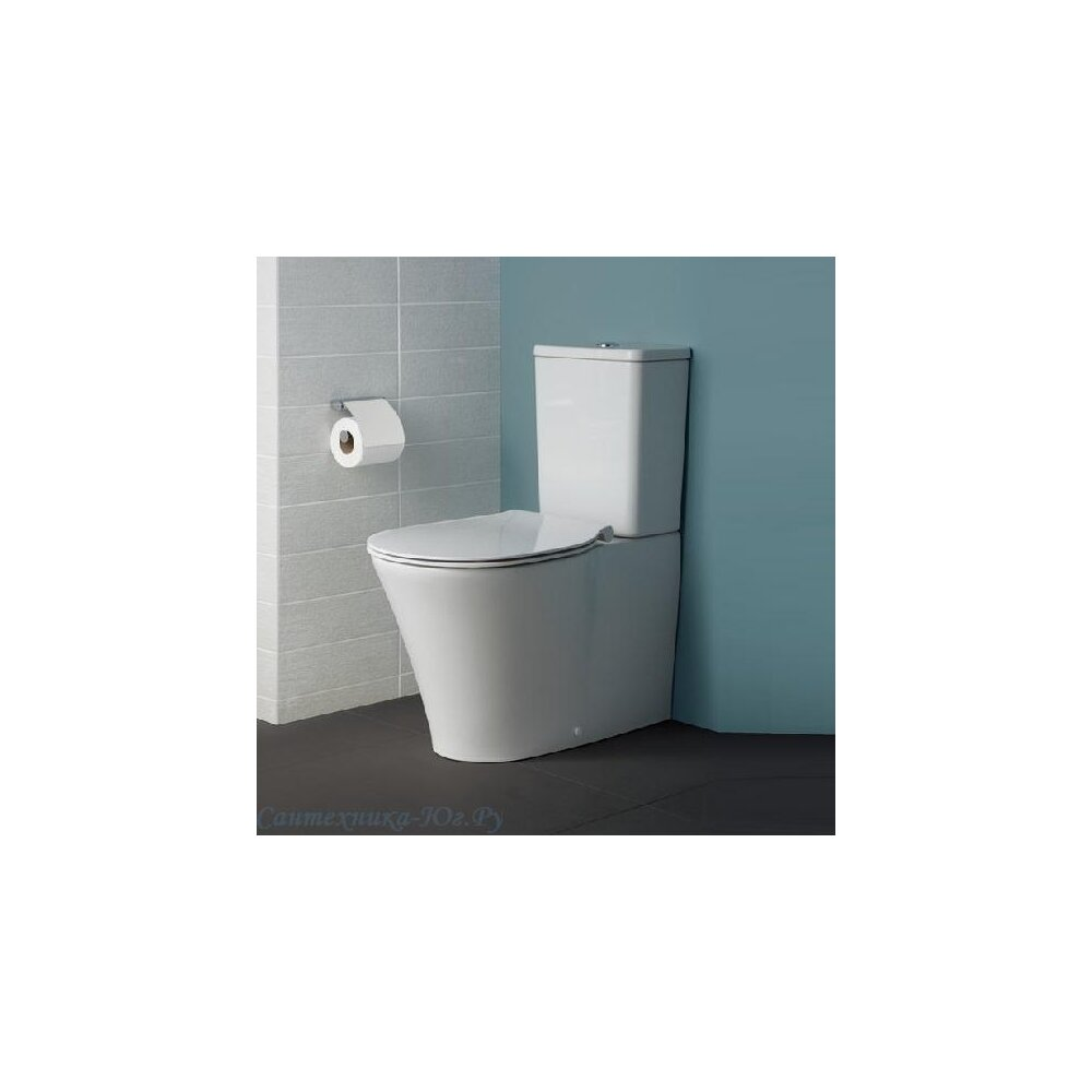 Set vas wc pe pardoseala btw cu rezervor si capac softclose Ideal Standard Connect Air AquaBlade poza