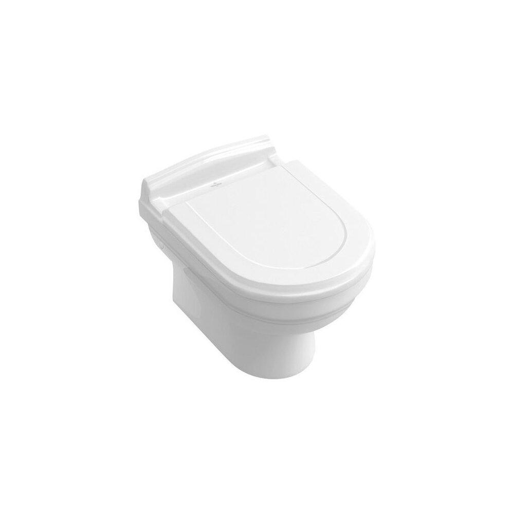 Set Vas wc si bideu suspendat Villeroy&Boch Hommage cu capac soft close imagine
