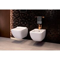 Set vas wc si bideu suspendat Villeroy&Boch Venticello Direct Flush cu capac slim soft close