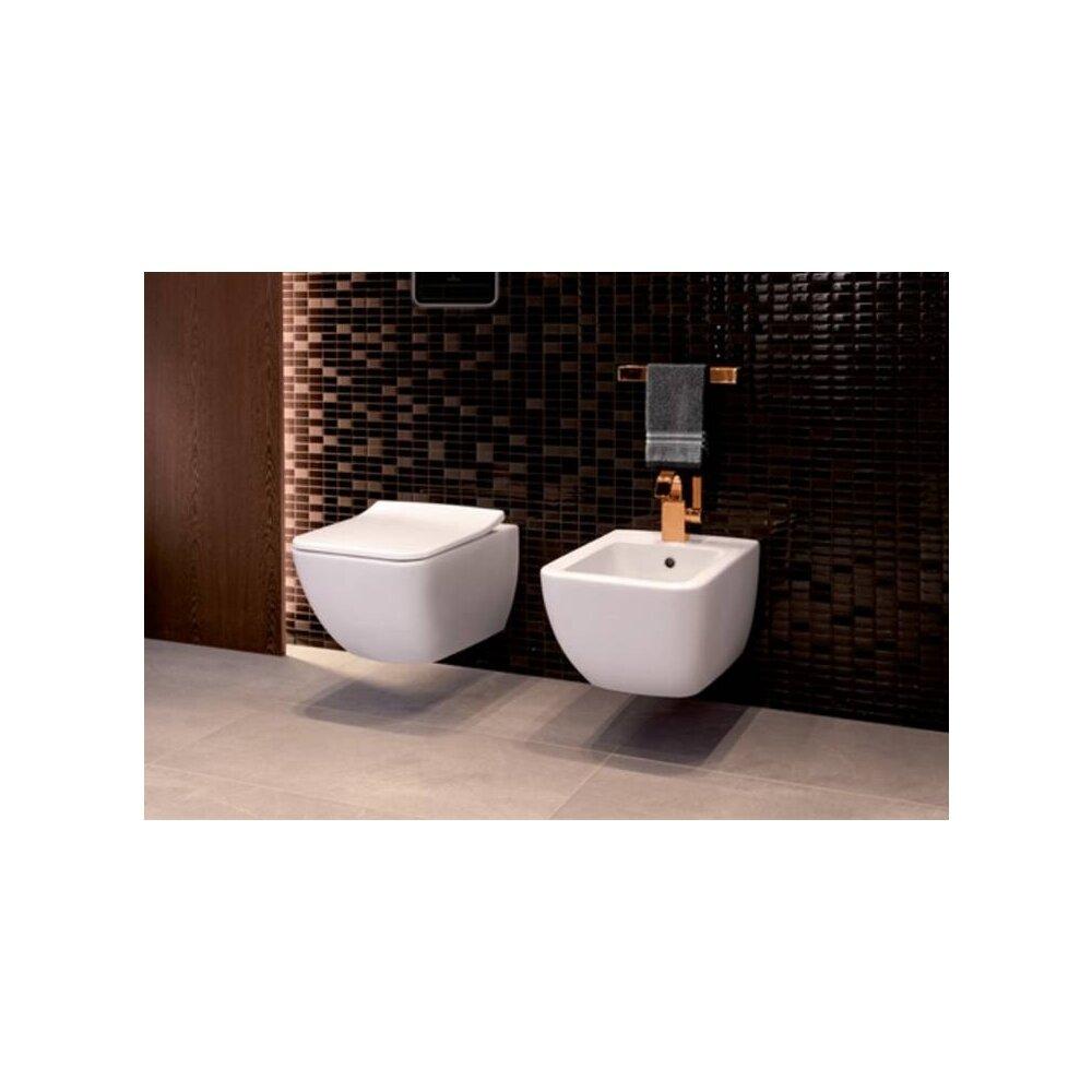 Set vas wc si bideu suspendat Villeroy&Boch VenticelloDirect Flush cu capac slim soft close poza