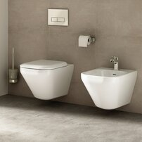 Set vas wc suspendat cu capac softclose si bideu suspendat Ideal Standard Tonic II Aquablade