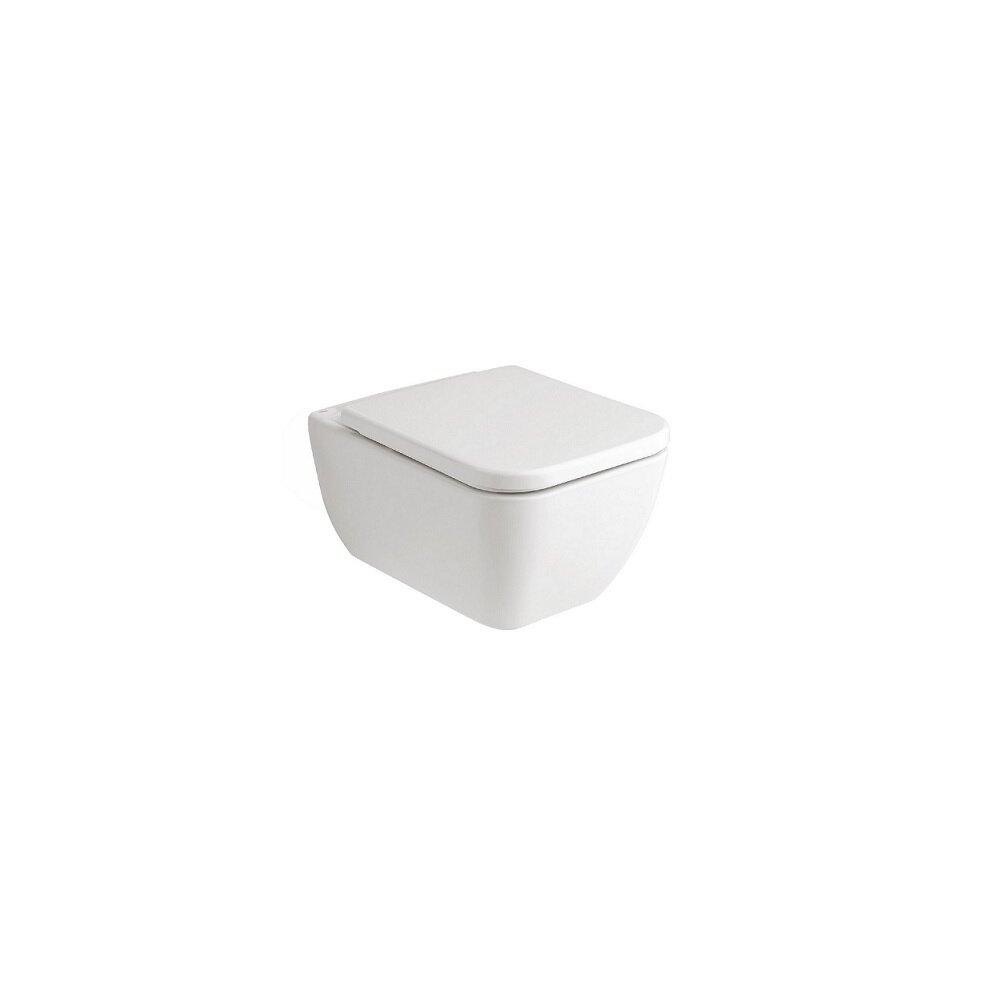 Set vas wc suspendat cu capac softclose Gala Emma Square Rimless neakaisa.ro