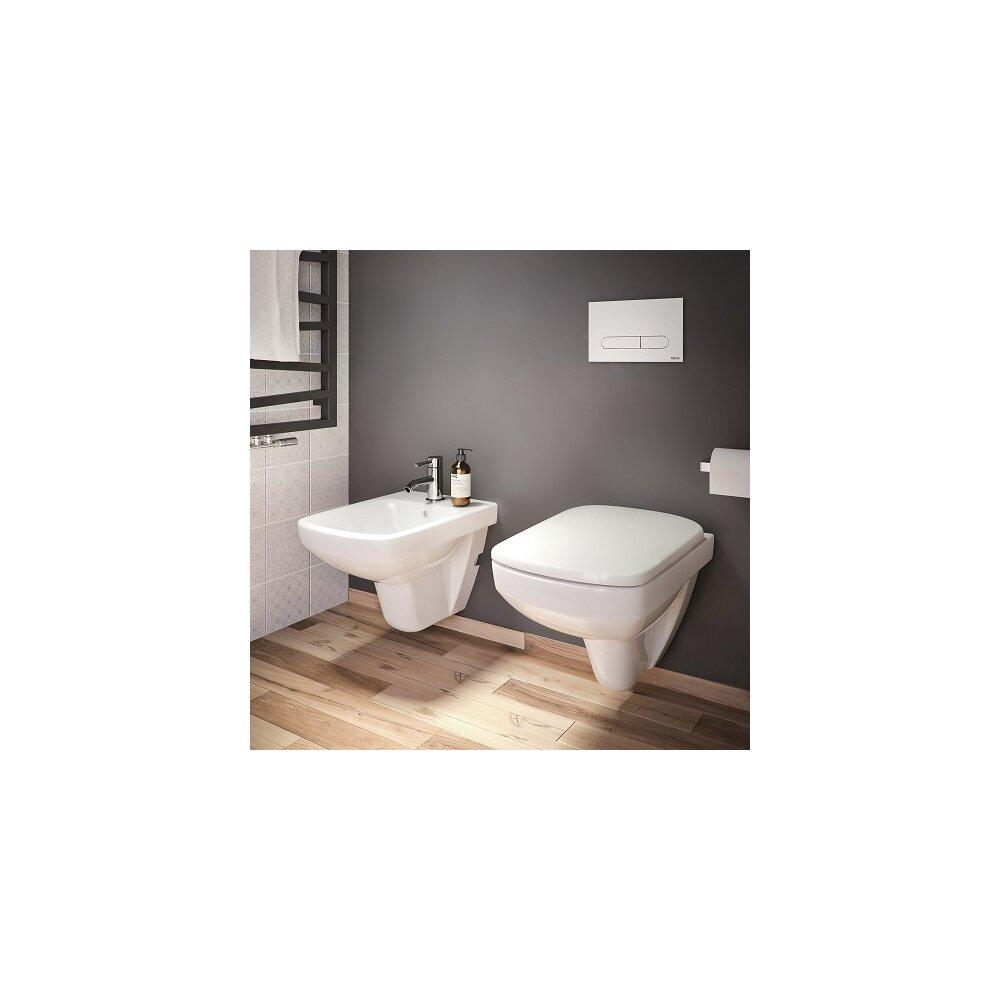Set vas wc suspendat cu capac softclose si bideu Kolo Nova Pro Rimfree imagine