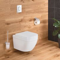 Set vas wc suspendat Grohe Euro Ceramic Rimless Triple Vortex si capac softclose