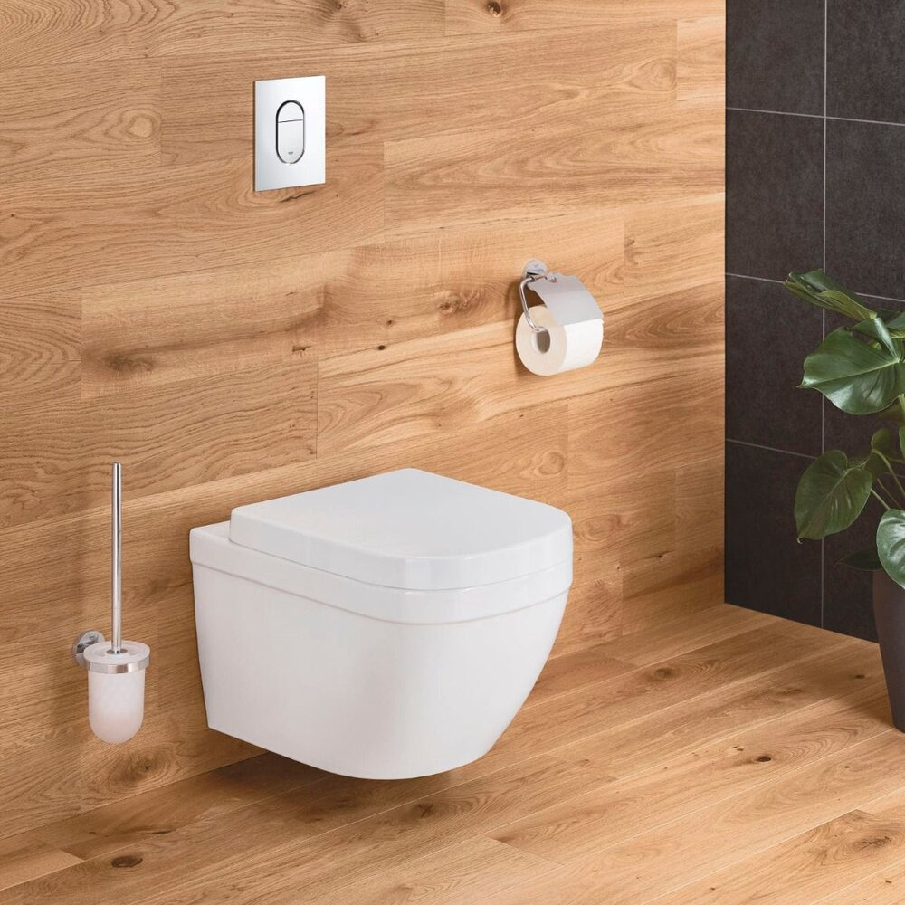 Set vas wc suspendat Grohe Euro Ceramic Rimless Triple Vortex si capac softclose imagine