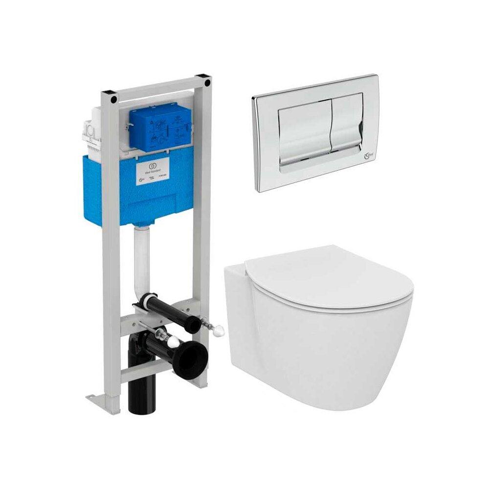 Set vas wc suspendat Ideal Standard Connect AquaBlade cu capac inchidere lenta si rezervor Ideal Standard Prosys poza